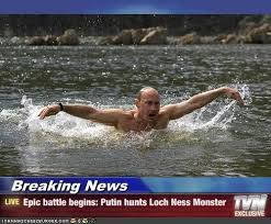 Loch Ness Monster Meme - breaking news epic battle begins putin hunts loch ness monster