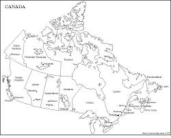 canada blank map map of canada with provinces territories and their capitals