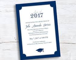 formal college graduation announcements college graduation announcement etsy