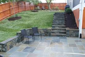 Patio Pictures And Garden Design Ideas Exterior Lovely Green Grass Flooring Backyard With Grey Slate