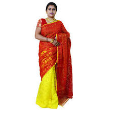 dhakai jamdani party wear dhakai jamdani saree at rs 1800 jagannathpur