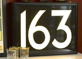 house number light box mini trend numbers and letters design sponge