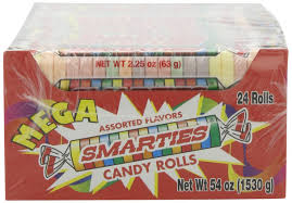 home theater candy display amazon com smarties candy rolls mega 2 25 ounce 24 count