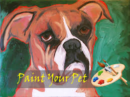 boxer dog vine paint your pet fundraiser may 6 7 00 to 9 30 pm doors open at 6