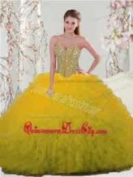 dresses for sweet 15 2015 fashionable yellow sweet 15 dresses with beading and ruffles
