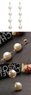 earrings brands tassel ear stud pearl pendant earrings women jewelry