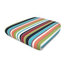 Patio Furniture Cushions Lowes by Shop Sensorpedic Sensorpedic Carousel Stripe Standard Patio Chair