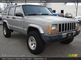 2001 Jeep Cherokee Sport Interior Silverstone Metallic 2001 Jeep Cherokee Sport 4x4 Agate