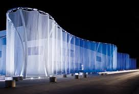 silent light curtain for swarovski by four to one showrooms
