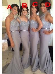 grey bridesmaid dresses mermaid silver grey bridesmaid dresses wedding party dress