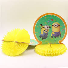 minions centerpieces 23 27cm minions honeycomb table centerpieces birthday decorate