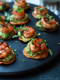 healthy canapes recipes cajun shrimp guacamole bites easy healthy recipes