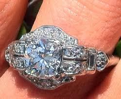 art deco vintage engagement ring u2013 advice on wedding band