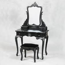 antique dressing table with mirror french style antique black dressing table mirror and stool set