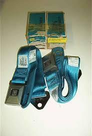 1968 corvette seats seat belts