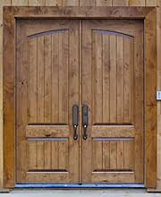 Chokhat Design Wooden Double Front Exterior Entry Doors Wood