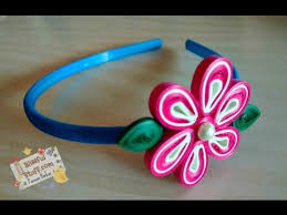 hairstyles with haedband accessories video diy paper quilled hair band easy paper quilling flower tutorial