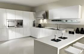 kitchen new design white modern ideas with gloss cabinets pictures