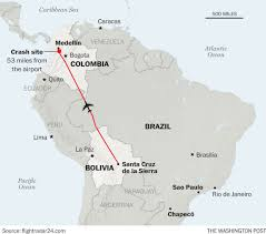 Colombia On A World Map by Tragedy Of Huge Proportions U0027 Plane With A Championship Bound