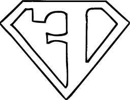 coloring page of superman logo coloring pages kids