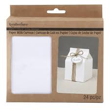 recollections craft it paper milk cartons white