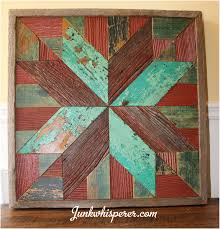 red green star holiday quilt wood wall art wooden wall hanging