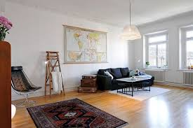three room apartment vintage elements and extreme space in a charming three room