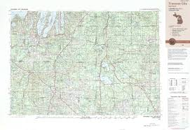 Map Of Michigan Roads by Traverse City Topographic Maps Mi Usgs Topo Quad 44084a1 At 1