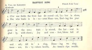 songs to celebrate the harvest