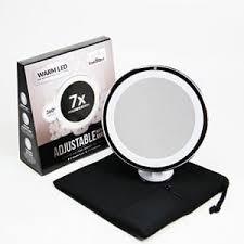 sanheshun 7x magnifying lighted travel makeup mirror best lighted makeup mirrors in 2018 magnifying vanity mirror