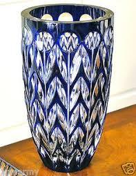 Cobalt Blue Crystal Vase Cobalt Blue Cut Crystal Cognac Glasses Brandy Snifters Grapes