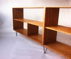 Table With Shelves Mid Century Modern Style Bookcase U2013 Record Shelf U2013 Entry Way Table