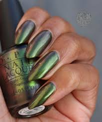 green on the runway by opi simply into my nails