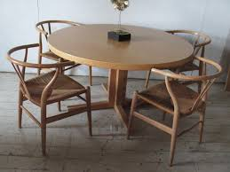 round dining room table with leaf danish modern dining table round table 2 leaves john mortensen