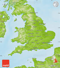 Map Of England And Scotland by Physical Map Of England