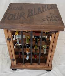 simple brown color wooden kitchen cabiners wine racks with