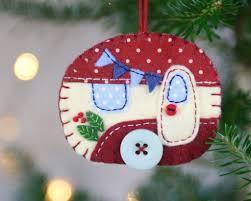 felt caravan ornament trailer christmas ornament christmas