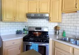 how to put up tile backsplash in kitchen painted subway tile backsplash remodelaholic