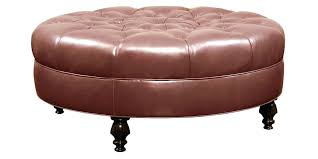 large leather tufted ottoman leather oval ottoman large round ottoman living room oval ottoman