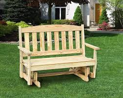 Outdoor Glider Chair Pine Porch 4 Ft Glider