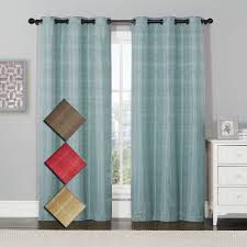 Navy Blue Blackout Curtains Meridian Room Darkening Grommet Top Window Curtain Drapes Thermal