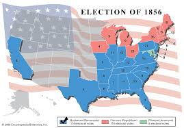 Us Election Map by American Presidential Election Of 1856 Schoolworkhelper