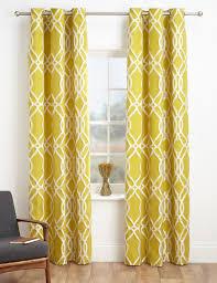 M S Curtains Made To Measure Geometric Jacquard Eyelet Curtains M U0026s