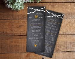 Wedding Program Chalkboard Diy Printable Wedding Program Chalkboard