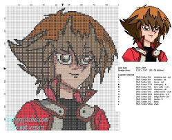 jaden yuki yu gi oh character free cross stitch patterns free