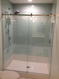Contemporary Tile Bathroom - bubble glass tile bathroom modern with shower tub nickel vanity