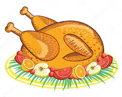 thanksgiving turkey vector food isolated on white for design