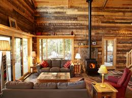 excellent log cabin living room ideas country cottage style