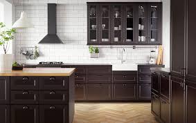 ikea kitchen furniture create classic drama with black brown and oak ikea