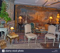 paris france bastille brocante furniture on display in shop in